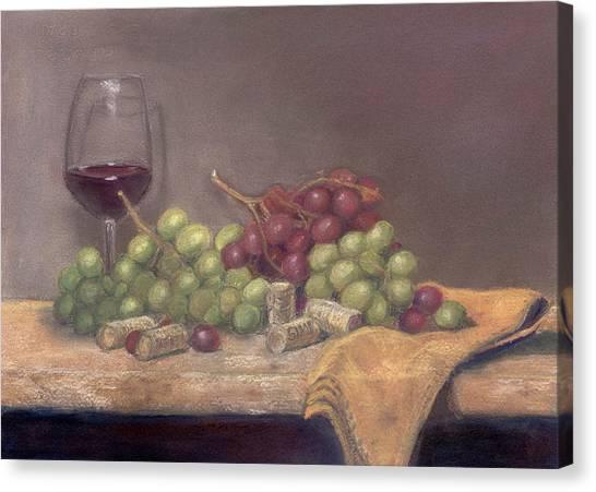 Wine Tasting Canvas Print by Ellen Minter