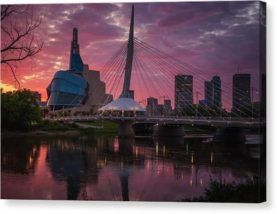 Manitoba Canvas Print - Winnipeg Sunset by Bryan Scott