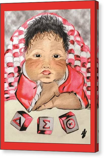 Delta Sigma Theta Canvas Print - With Love by Janeen Stone Morehead