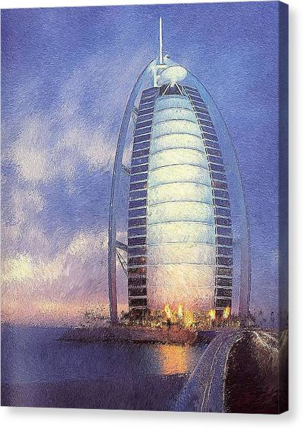 Dubai Skyline Canvas Print - Wonder In The Sea by Art Tantra