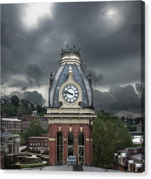 West Virginia University Wvu Canvas Print - Woodburn Stands Alone by Jacki Marino