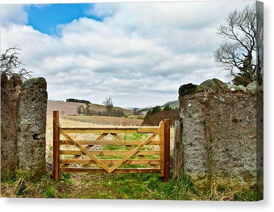 Border Wall Canvas Print - Wooden Gate by Tom Gowanlock