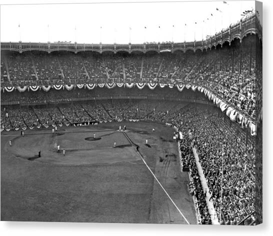 Yankee Stadium Canvas Print - World Series In New York by Underwood Archives