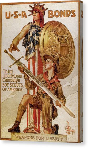 Boy Scouts Canvas Print - World War I (1914-1918 by Prisma Archivo