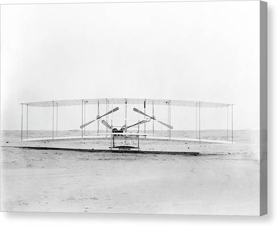 Aviators Canvas Print - Wright Flyer by Us Library Of Congress/science Photo Library