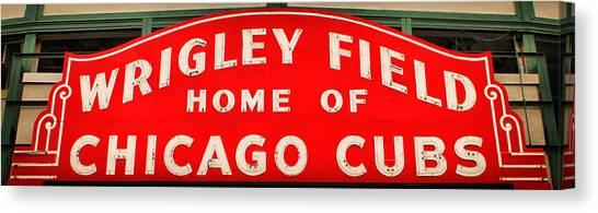 Wrigley Field Sign Canvas Print