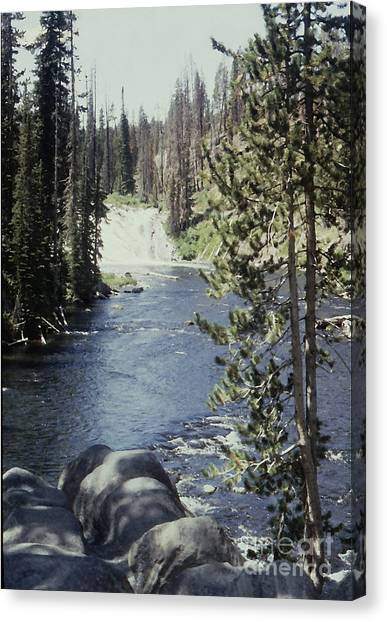 Wyoming Stream Canvas Print by Adeline Byford