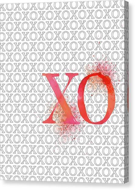 Xo Canvas Print by Amy Cummings