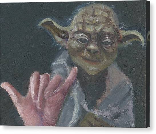 Y Is For Yoda Canvas Print