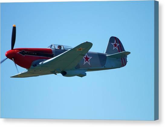 Yaks Canvas Print - Yakovlev Yak-3 - Wwii Russian Fighter by David Wall