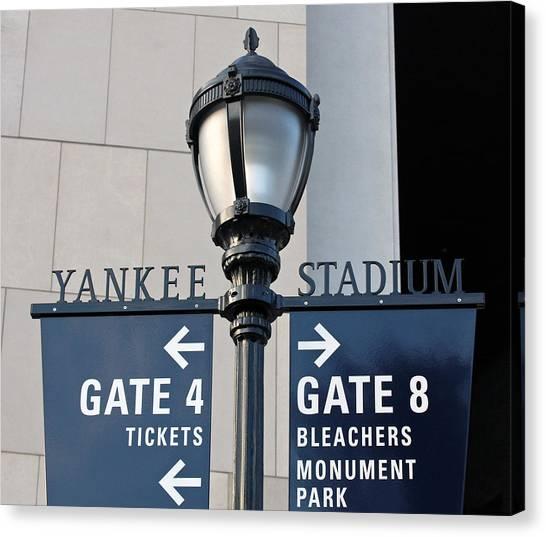 Yankee Stadium Sign Post Canvas Print