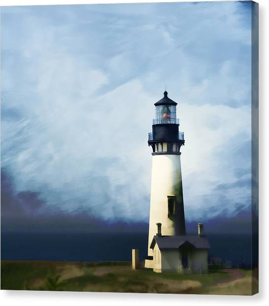 Lighthouses Canvas Print - Yaquina Head Light by Carol Leigh