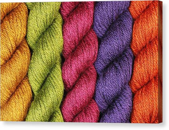 Ply Canvas Print - Yarn With A Twist by Jim Hughes