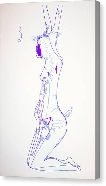 Gloria Canvas Print - Yearning by Gloria Ssali