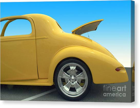 Yellow Coupe Canvas Print