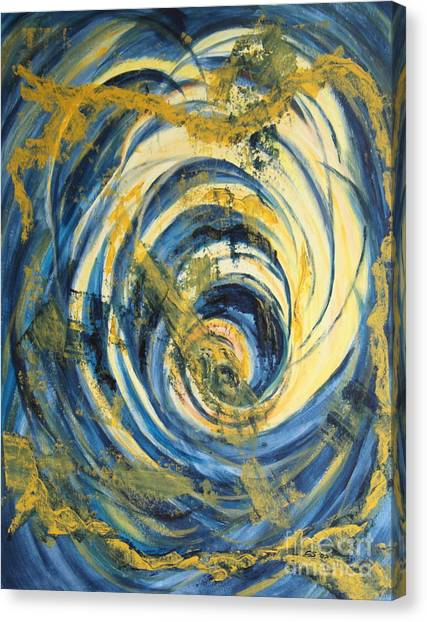 Yellow Spiral Canvas Print by Christiane Schulze Art And Photography