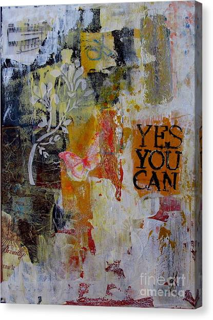 Yes You Can  Canvas Print