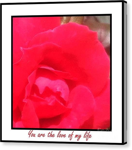 You Are The Love Of My Life By Saribelle Rodriguez Canvas Print