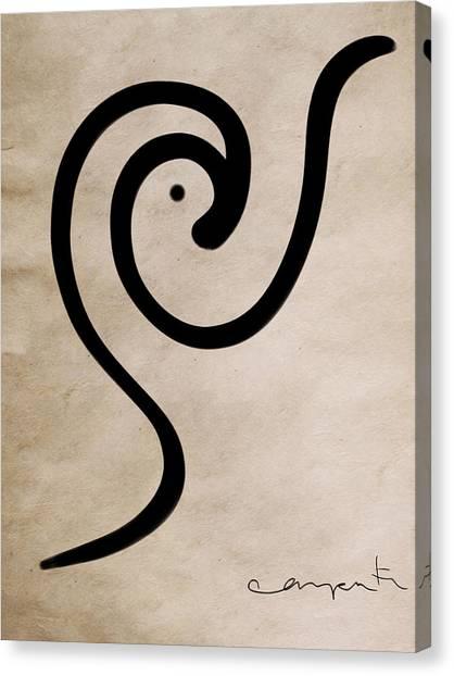 Zen Bird Canvas Print