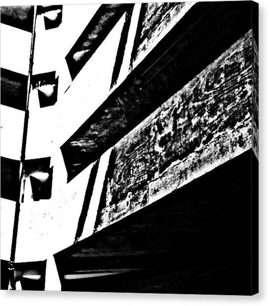 Geometric Canvas Print - Car Park 3 by Jason Michael Roust