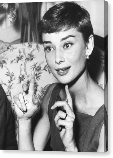 Audrey Hepburn Canvas Print - Audrey Hepburn by Silver Screen