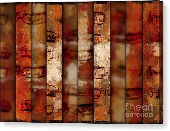 10-bar Orange Pastiche Canvas Print