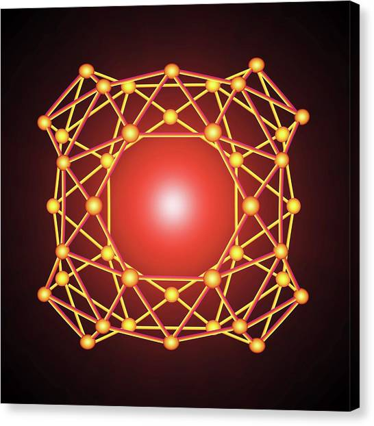 Brown University Canvas Print - Boron Buckyball by Alfred Pasieka
