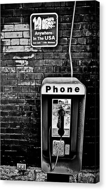 10 Cent Phone Call Canvas Print