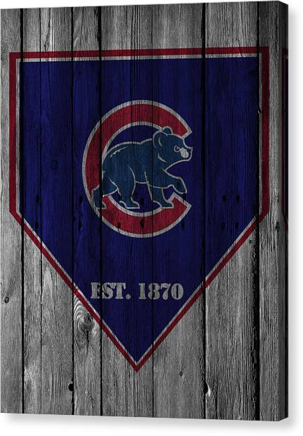 Iphone Case Canvas Print - Chicago Cubs by Joe Hamilton