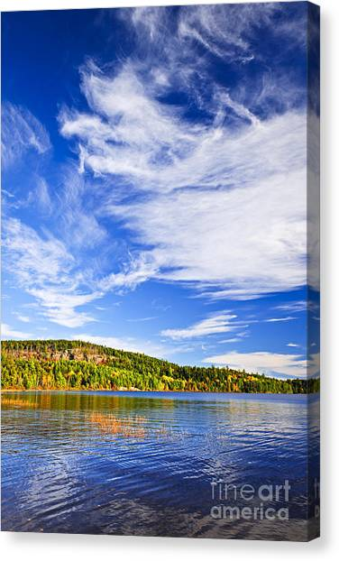 Algonquin Park Canvas Print - Fall Forest And Lake by Elena Elisseeva