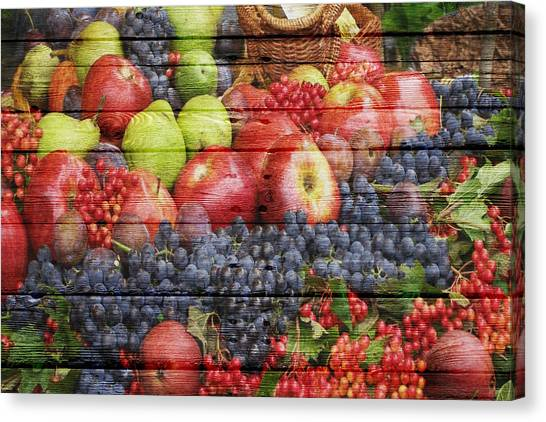 Blackberries Canvas Print - Fruit by Joe Hamilton
