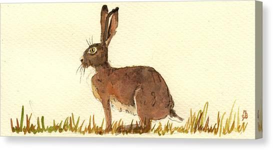 Hare Canvas Print - Hare by Juan  Bosco