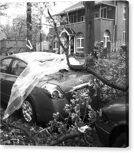 Hurricanes Canvas Print - Hurricane Sandy In New York by Boris Mordukhayev