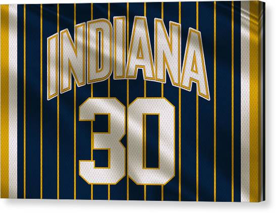 Indiana Pacers Canvas Print - Indiana Pacers Uniform by Joe Hamilton