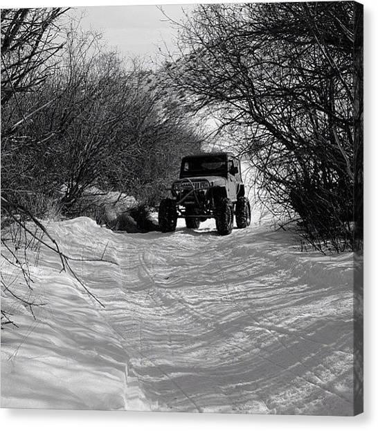 Jeep Canvas Print - #jeep #jeepwrangler #4x4 #offroad by James Crawshaw