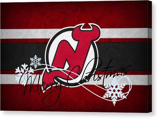 New Jersey Devils Canvas Print - New Jersey Devils by Joe Hamilton