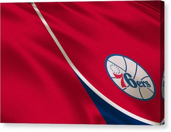 Philadelphia Sixers Canvas Print - Philadelphia 76ers by Joe Hamilton