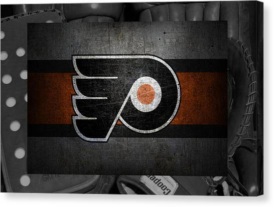 Flyers Canvas Print - Philadelphia Flyers by Joe Hamilton
