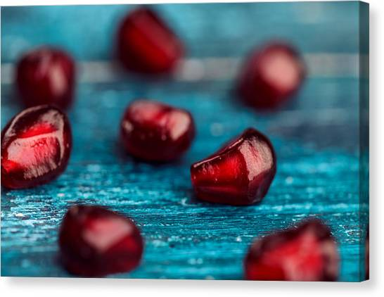 Fruit Canvas Print - Pomegranate by Nailia Schwarz