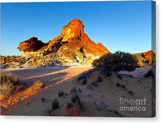 Clay Canvas Print - Rainbow Valley by Bill  Robinson