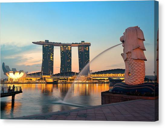 Singapore Skyline Canvas Print by Songquan Deng