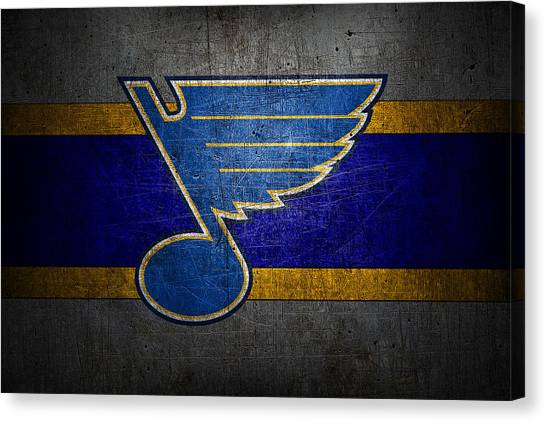 Skating Canvas Print - St Louis Blues by Joe Hamilton