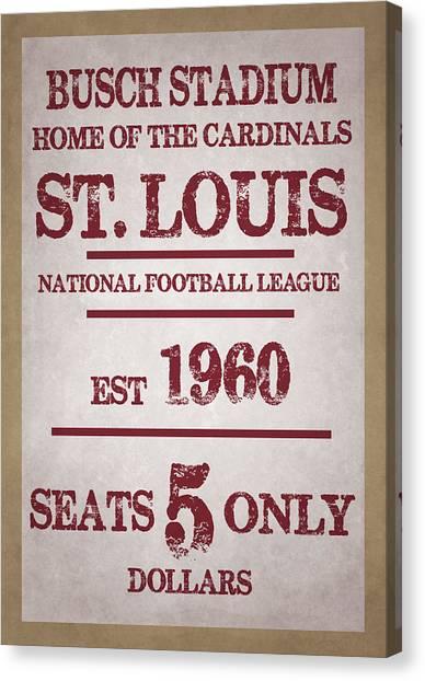 St. Louis Cardinals Canvas Print - St Louis Cardinals by Joe Hamilton