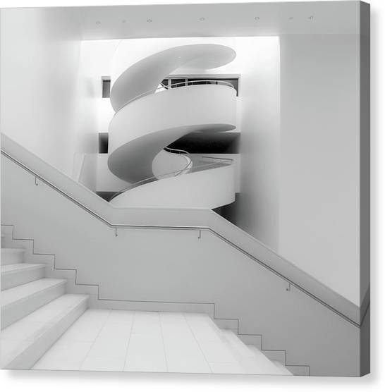 Modern Architecture Canvas Print - Untitled by Anna Niemiec