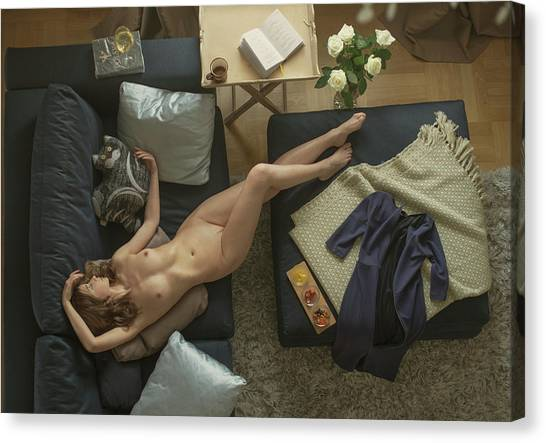 Fine Art Nudes Canvas Print - Untitled by David Dubnitskiy