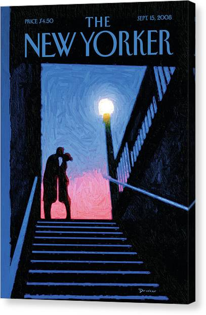 New Yorker Moment Canvas Print by Eric Drooker