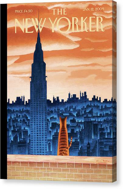 Chrysler Building Canvas Print - New Yorker January 12th, 2009 by Mark Ulriksen