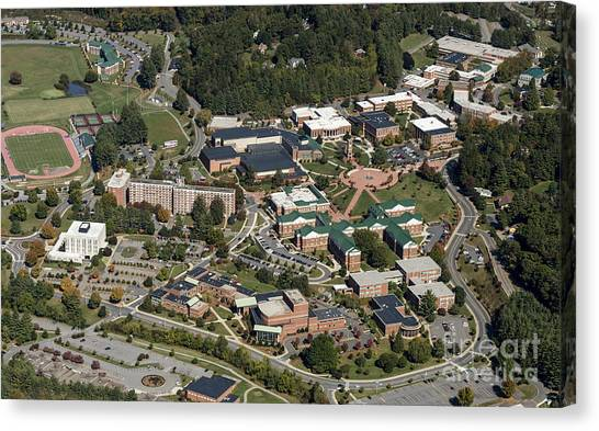 Graduate Degree Canvas Print - Western Carolina University Campus by David Oppenheimer