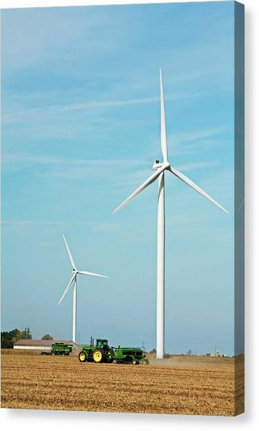 Wind Farms Canvas Print - Wind Farm by Jim West