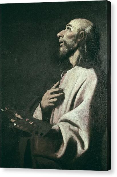 Saint Luke The Evangelist Canvas Print - Zurbaran, Francisco De 1598-1664. Saint by Everett